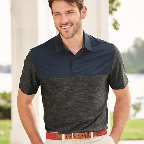 Izod Other - IZOD - Colorblocked Space-Dyed Sport Shirt